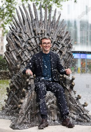 British actor Isaac Hempstead Wright during the Game Of Thrones Iron Statue unveiling photocall in Leicester Square, London, Britain, 22 June 2021. The statue marks the tenth anniversary of the Game of Thrones and is the final statue unveiled as part of Leicester Square's 'Scenes in the Square'.