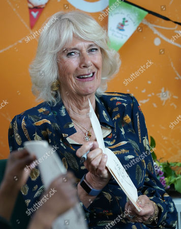 Camilla Duchess of Cornwall visit to Griffin Primary School, London