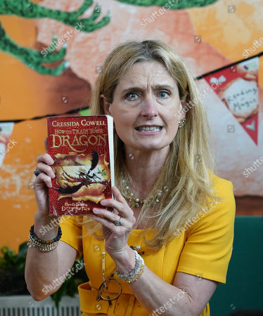 Waterstones Children's Laureate, Cressida Cowell during her visit to Griffin Primary School in Nine Elms, London, to open the new 'Life-changing Library'.
