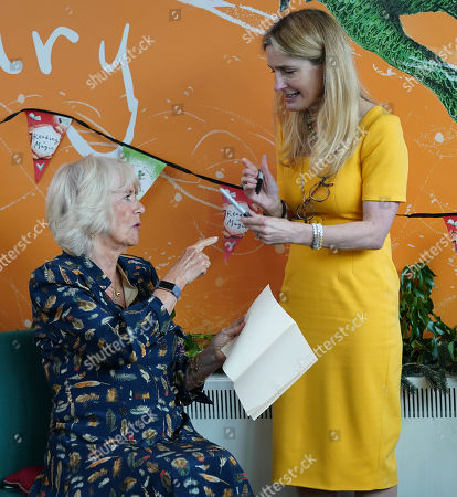 Editorial picture of Camilla Duchess of Cornwall visit to Griffin Primary School, Nine Elms, London, UK - 22 Jun 2021
