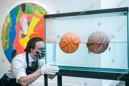 JEFF KOONS, Two Ball 50,50 Tank , (Estimate: £2.2-2.8 million. Sotheby's Modern & Contemporary Art Sale preview as part of the major summer auctions.The sale takes place on 29 June