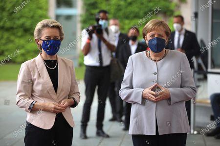 Angela Merkel receives European Commission President Ursula von der Leyen, Berlin
