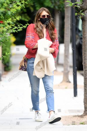 Exclusive - Liz Hurley out and about, London