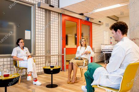 Queen Maxima visits the UMC hospital, Utrecht