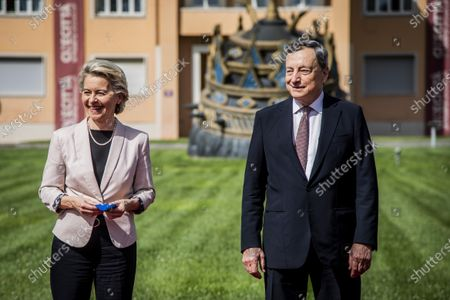 Von der Leyen and Draghi present the National Plan for Recovery, Rome