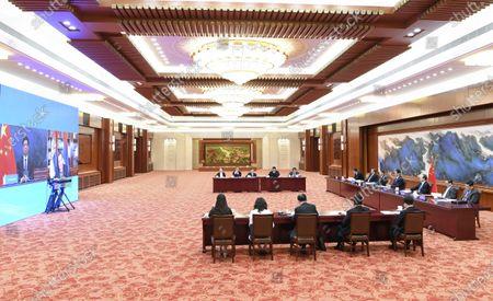 Editorial photo of China Beijing Li Zhanshu Serbia Talks - 22 Jun 2021