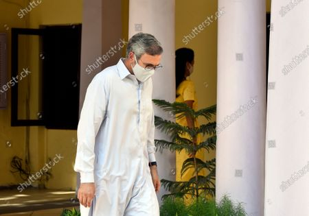 National Conference leader Omar Abdullah leaves after attending leaders of opposition parties meeting at the residence of  NCP President Sharad Pawar on June 22, 2021 in New Delhi, India.  Leaders of opposition parties from across the nation attended a meeting hosted at the Delhi residence of Nationalist Congress Party (NCP) chief Sharad Pawar on Tuesday. The meeting of the 'Rashtra Manch' (National Forum), where several issues were discussed, lasted for two-and-a-half hours, according to Trinamool Congress (TMC) leader Yashwant Sinha.