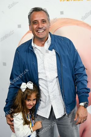 """Stock Picture of Comedian Joe Gatto and daughter Milana attend the world premiere of """"The Boss Baby: Family Business"""" at the SVA Theatre, in New York"""