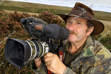Editorial photo of Johnny Kingdom, wildlife filmmaker, Exmoor, Somerset, Britain - 2010