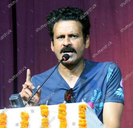 Editorial picture of Bollywood Actor Manoj Bajpayee Visits Kalidas Rangalya In Patna, Bihar, India - 22 Jun 2021