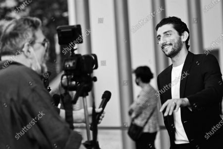 Director and actor Pietro Castellitto on Blue carpet for the 'Nastri d'Argento' Award (Silver Ribbon) 2021 ceremony at the MAXXI - National Museum of 21st Century Art in Rome