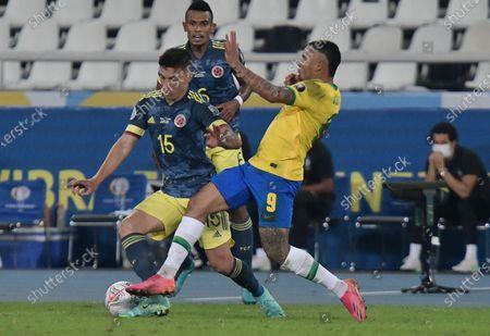 Editorial picture of Brazil v Colombia, Copa America Group B Football match, Estadio Nilton Santos, Rio de Janeiro, Brazil - 23 Jun 2021