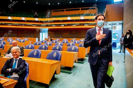 Jesse Klaver (Groenlinks) and Geert Wilders (PVV)