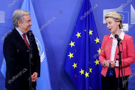 UN Secretary general Antonio Guterres visits Brussels