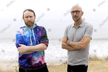 """Stock Image of Author Neil Strauss, right, and Incubus guitarist Mike Einziger, of the podcast """"To Live and Die in LA,"""" pose for a portrait, in Malibu, Calif. Strauss is back with a second season of his podcast, focusing on the 2017 disappearance of Elaine Park, a 20-year-old woman last seen in Calabasas, California"""