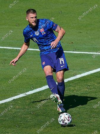 Milan Skriniar of Slovakia