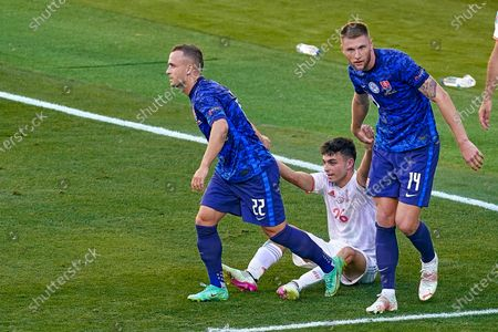 Editorial photo of Spain v Slovakia Euro 2020 match, group E, matchday 3. Football, La Cartuja Stadium, Sevilla, Spain - 23 Jun 2021
