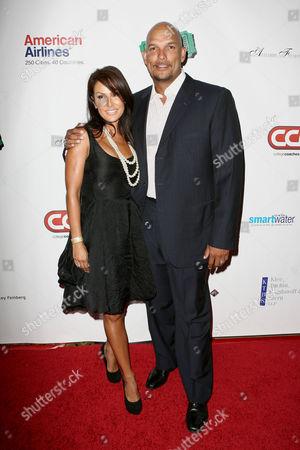 Stock Image of David Justice and wife Rebecca Villalobos-Justice