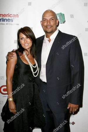 Stock Picture of David Justice and wife Rebecca Villalobos-Justice