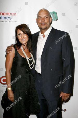 Stock Photo of David Justice and wife Rebecca Villalobos-Justice