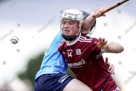 Dublin vs Galway. Galway's John Fleming and Michael Conroy of Dublin