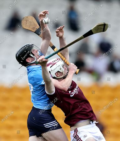 Stock Photo of Dublin vs Galway. Dublin's Michael Conroy and Donal O'Shea of Galway