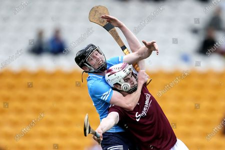 Stock Image of Dublin vs Galway. Dublin's Michael Conroy and Donal O'Shea of Galway