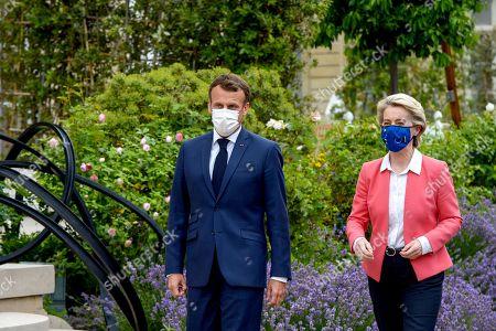 Ursula Von Der Leyen meeting with Emmanuel Macron, Paris