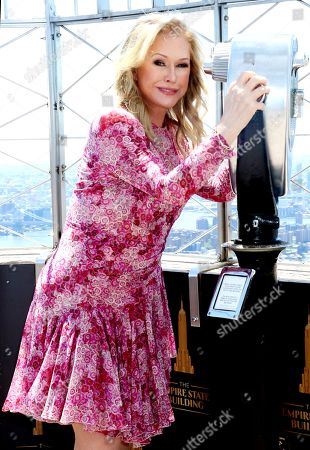 Kathy Hilton visits The Empire State Building, New York