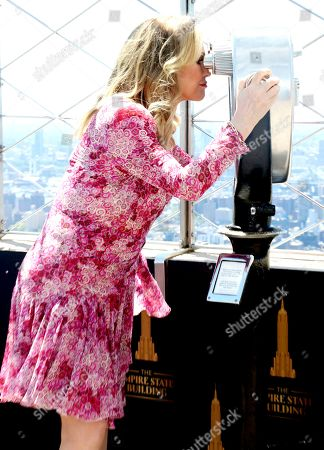 Kathy Hilton of The Real Housewives of Beverly Hills visits the Empire State Building Observatory in New York City