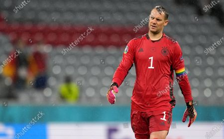 German goalkeeper Manuel Neuer during the UEFA EURO 2020 group F preliminary round soccer match between Germany and Hungary in Munich, Germany, 23 June 2021.