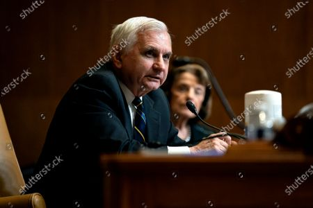 Senator Jack Reed, a Democrat from Rhode Island, speaks during a Senate Appropriations Committee hearing in Washington, DC, USA, on 23 June 2021. FBI Director Wray will answer questions about the FY2021 budget for the Federal Bureau of Investigation.
