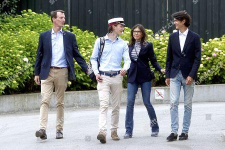 Stock Photo of Prince Felix, Prince Joachim, Countess Alexandra and Prince Nikolai