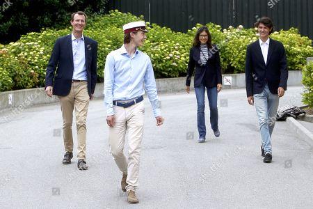 Prince Felix, Prince Joachim, Countess Alexandra and Prince Nikolai
