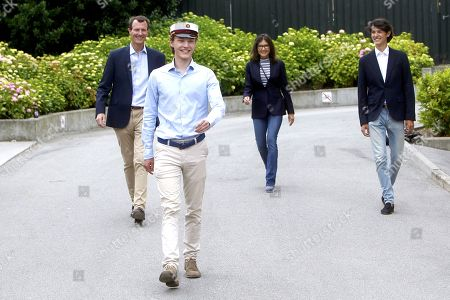 Editorial photo of Prince Felix graduates Gammel Hellerup High School, Hellerup, Denmark - 23 Jun 2021