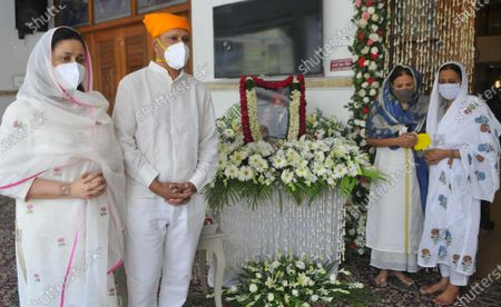 Antim Ardas of legendary sportsperson Milkha Singh and his wife Nirmal Kaur, at Sector 8 Gurdwara,  on June 23, 2021 in Chandigarh, India. Legendary Indian athlete Milkha Singh died on 18 June, 2021 of Covid-19 related complications, five days after wife Nirmal Kaur's death.
