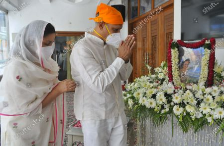 Stock Picture of Antim Ardas of legendary sportsperson Milkha Singh and his wife Nirmal Kaur, at Sector 8 Gurdwara,  on June 23, 2021 in Chandigarh, India. Legendary Indian athlete Milkha Singh died on 18 June, 2021 of Covid-19 related complications, five days after wife Nirmal Kaur's death.