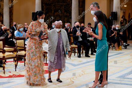 King Felipe VI, Queen Letizia ; Cuban son and bolero singer Omara Portuondo