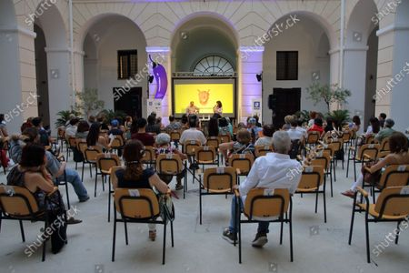 """Within the cultural event Salerno Literature Festival (Salerno Letteratura Festival), inside the courtyard of the Diocesan Museum, the film actor Marco D'Amore and the writer Francesco Ghiaccio, spoke about their book """"Vesuvius"""" published by De Agostini."""