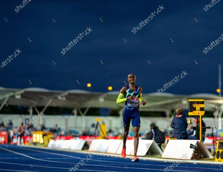 Mo Farah fails to meet the Olympic Games 10,000m Qualifying time; Manchester Regional Arena, Manchester, Lancashire, England; Muller British Athletics Championships.