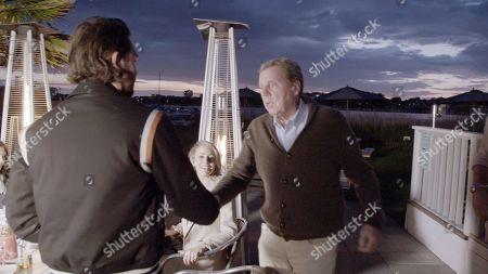 Bradley Dack, Olivia Attwood and Harry Redknapp.