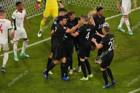 Kai Havertz, Mats Hummels, Antonio Rüdiger, Leon Goretzka, Matthias Ginter, Robin Gosens, Serge Gnabry all Germany