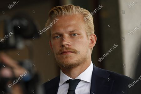 Joel Pohjanpalo of Team Finland arrives from UEFA Euro 2020 football tournament to the Helsinki-Vantaa airport in Vantaa, Finland on June 24, 2021.