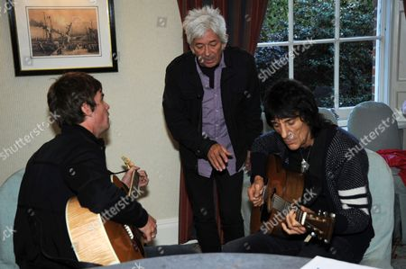 Jesse Wood, Ian McLagan and Ronnie Wood