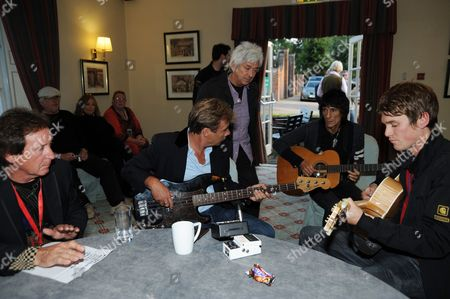 Kenney Jones, Glen Matlock, Ian McLagan, Ronnie Wood and Jesse Wood