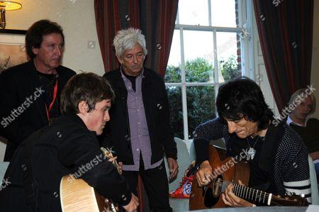 Kenney Jones, Jesse Wood, Ian McLagan and Ronnie Wood