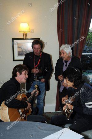 Jesse Wood, Kenney Jones, Ian McLagan and Ronnie Wood