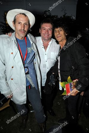 Marlon Richards, Jimmy White and Ronnie Wood