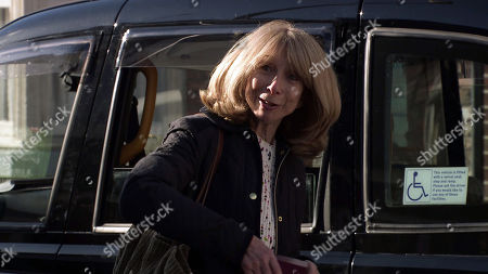 Coronation Street - Ep 10370 & Ep 10371 Tuesday 6th OR Wednesday 7th July 2021 Audrey Roberts, Nick Tilsley, David Platt and Shona Platt wave Gail Rodwell, as played by Helen Worth, off as she leaves for Thailand.