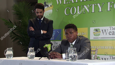 Coronation Street - Ep 10364 Wednesday 30th June 2021 - 1st Ep As James Bailey, as played by Nathan Graham, takes the stage at his promotion press conference he's asked awkward questions about his private life. James steals himself to tell the truth.